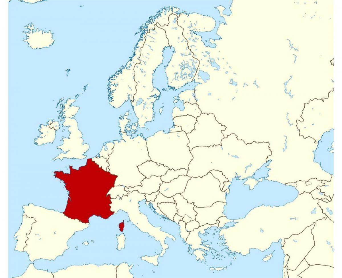 kart over vest europa Kart over Frankrike og europa   Frankrike og europa kart (Vest  kart over vest europa