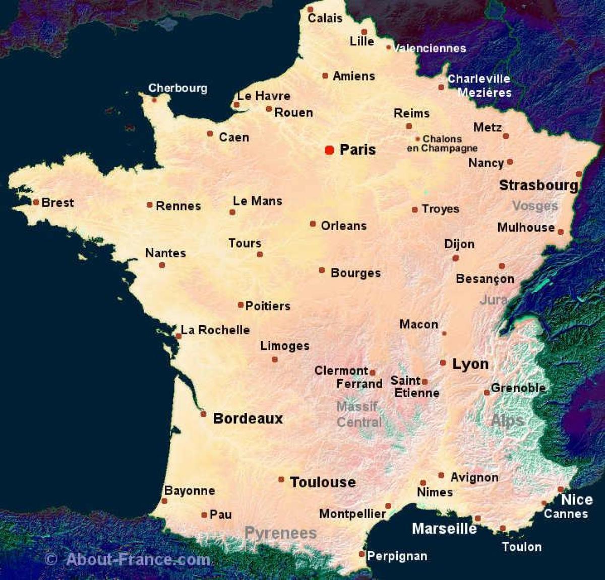 kart kjøp Kjøp kart over Frankrike   Kart over Frankrike for å kjøpe (Vest  kart kjøp